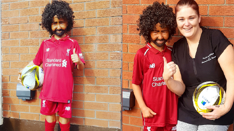 Liverpool Mad 9-Year-Old Girl Causes A Stir With Mo Salah Halloween Party Makeover