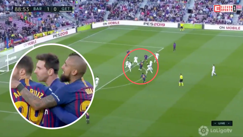 Lionel Messi Takes Five Getafe Players Out Of The Game, Refuses To Celebrate The Goal