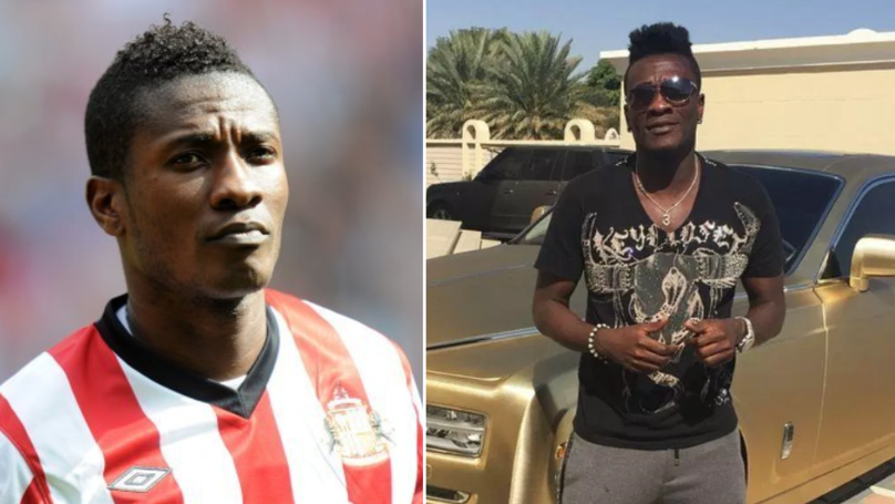 Asamoah Gyan Claims He's 'Broke' And Has Just £600 In His Bank Account