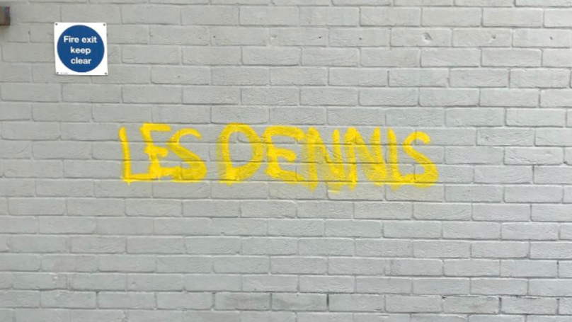 Les Dennis Has Denied Spray-Painting His Name On Surfaces Across Norwich