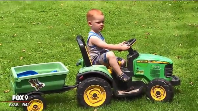 Two-Year-Old Rescued By Police After Driving His Toy Tractor To The Fair