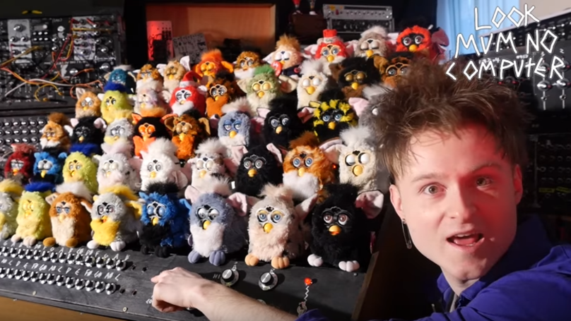 London Musician Builds A Demonic Organ Made Entirely From Furbys