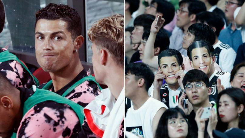 Cristiano Ronaldo Met With 'Messi!' Chants After He Doesn't Play In Game In Seoul
