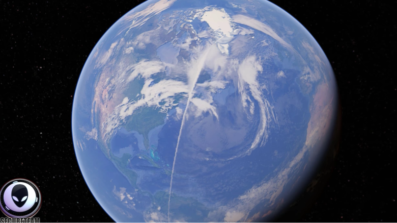 Bizarre White Line Spanning 13,000 Miles Captured On Google Earth