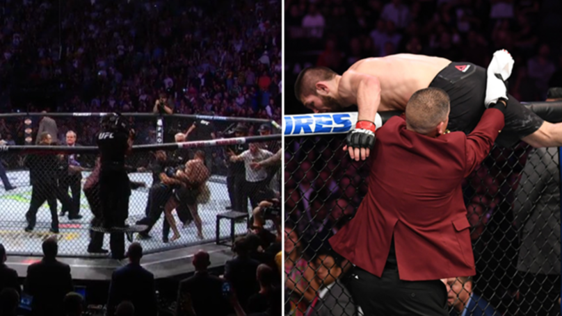 All Hell Breaks Loose At The End Of Khabib Nurmagomedov Vs Conor McGregor