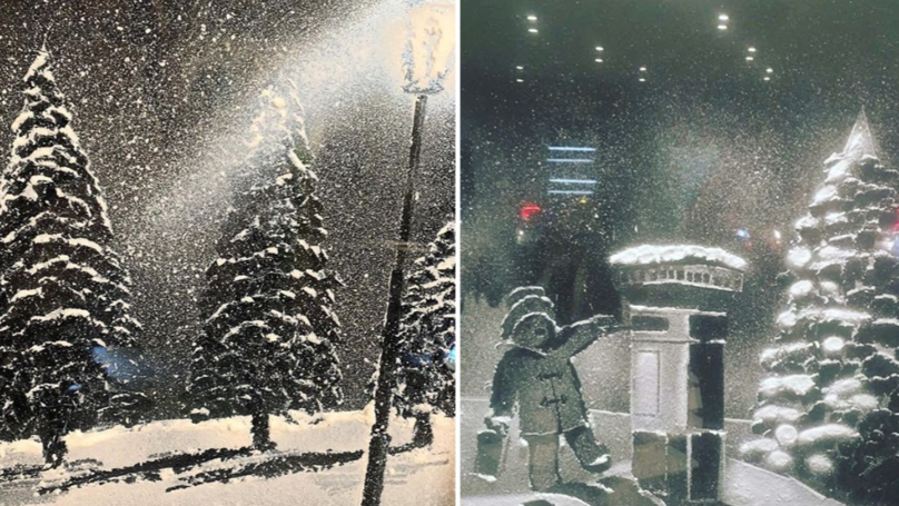 ​The New Trend Of Creating A Snow Scene On Your Window Is Magical