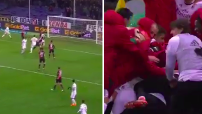 Watch: AC Milan Celebrate Wildly As Andre Silva Scores Last Minute Winner