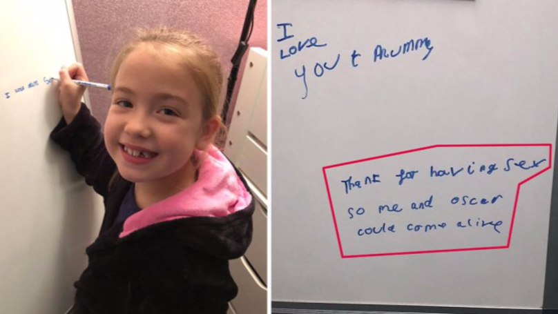 Eight-Year-Old Thanks Mum For 'Having Sex' So She Could 'Come Alive'