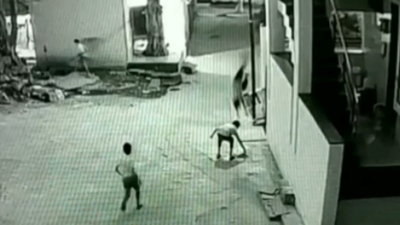 Boy Falls 40ft From Roof But Is Saved By Landing On His Friend