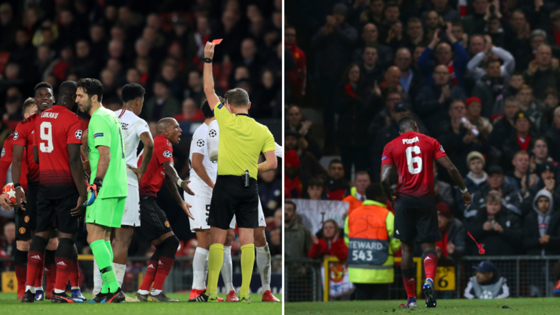 How Paul Pogba Reacted In The Dressing Room After Red Card Vs. Paris Saint-Germain