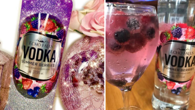 You Can Get Glittery Bottles Of Echo Falls Summer Berries Vodka