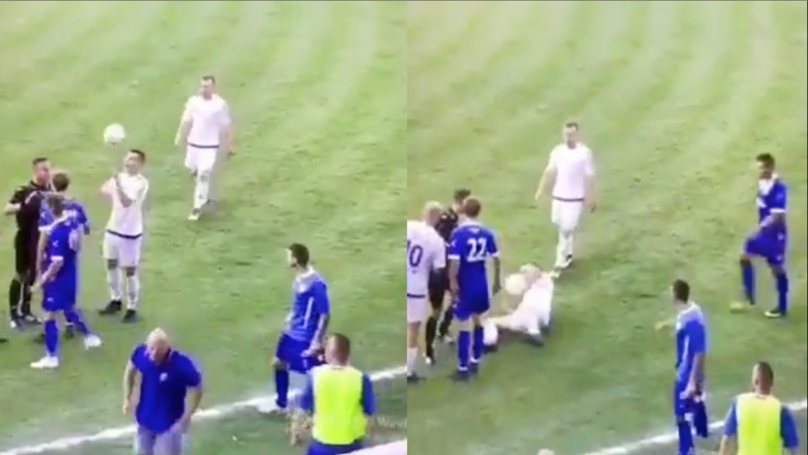 Mogilno Footballer Takes Diving To A Whole New Level Of Absurdity