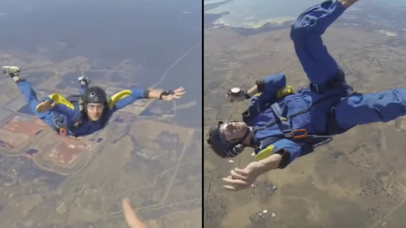Lad Saves Man Having Seizure At 12,000ft While Skydiving