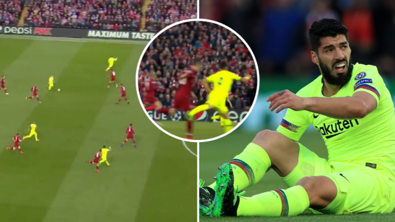 Luis Suarez Forces Andy Robertson Off At Half-Time After Kicking Out