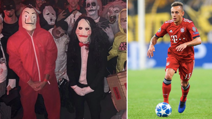 Bayern Munich's Rafinha Wears Controversial Costume For Halloween Party, Apologises On Twitter