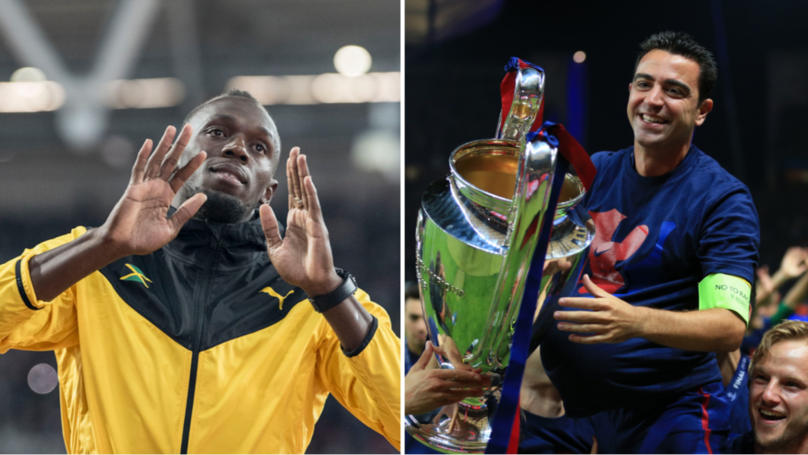 Xavi Gives His Brutal Assessment Of Usain Bolt's Chances As A Footballer