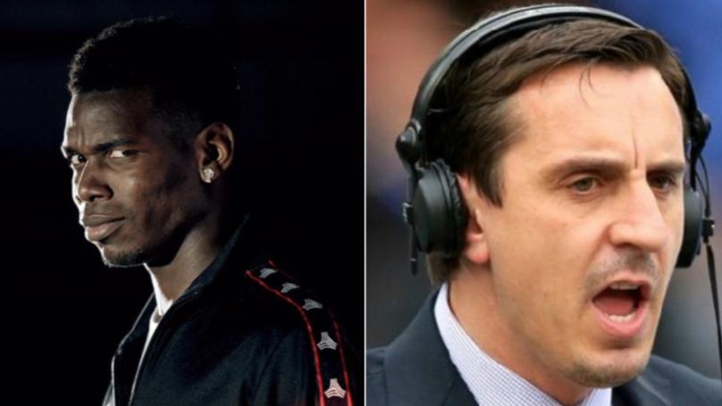 "Gary Neville Tells Paul Pogba To ""Do One"" After He Trolls Jose Mourinho"
