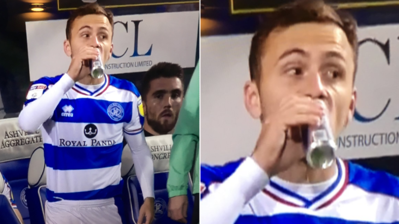 QPR Substitute Josh Scowen Downs Can Of Red Bull, Seconds Before Coming On