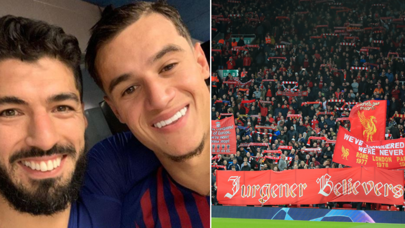 Liverpool Fan Urges Supporters To Boo Suarez And Coutinho 'From First Minute To Last'