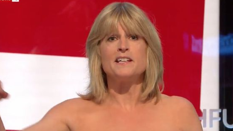 Rachel Johnson Exposes Breasts During Sky News Brexit Debate