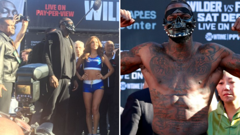 Fans Are Very Confused By Deontay Wilder's Mask