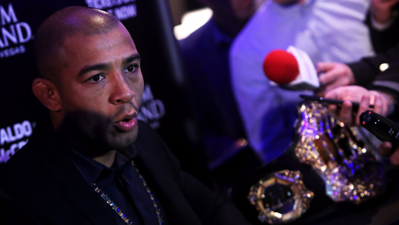 Obviously Jose Aldo Reacted To Conor McGregor's Loss To Floyd Mayweather