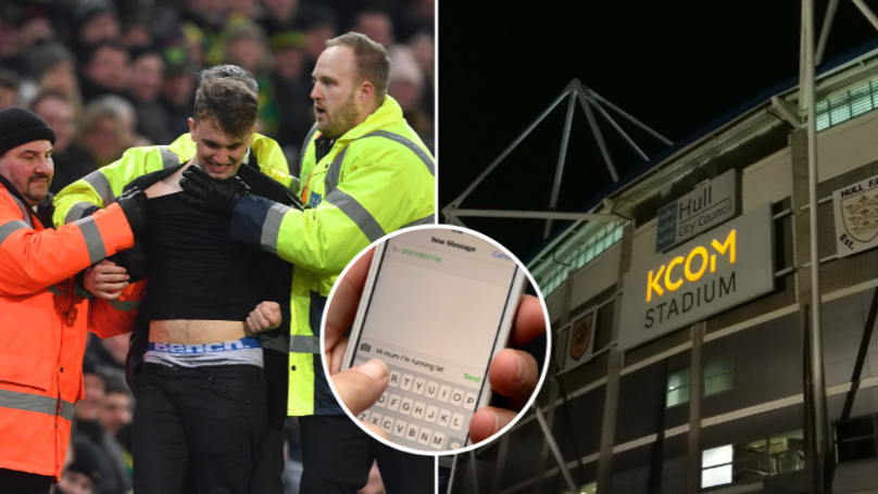Football Fan Nearly Thrown Out Of Stadium For Texting By 'Undercover Security Guard'