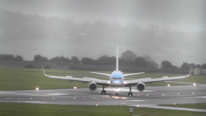 ​Pilot Lands Plane Sideways Due To Storm Callum's Strong Winds