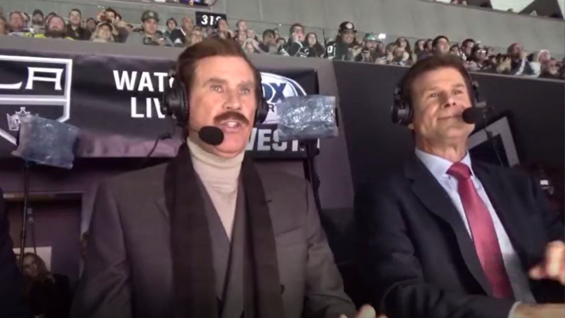 Ron Burgundy Shows Up To LA Kings Game