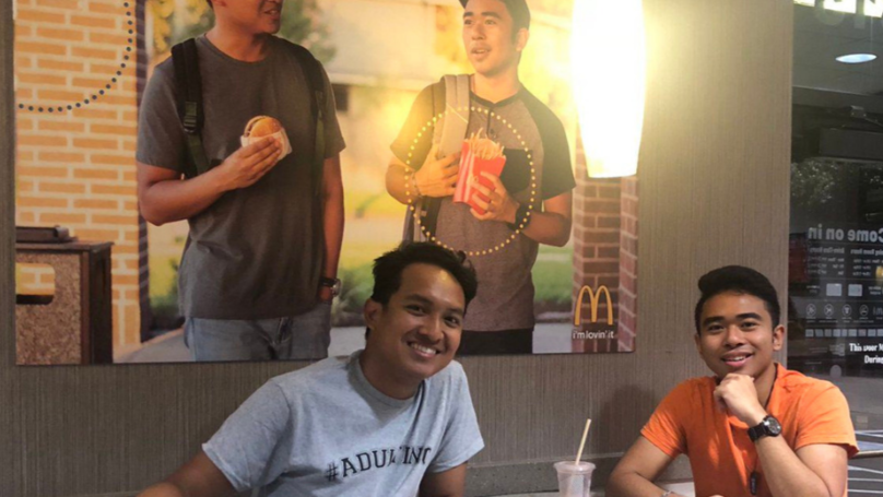 Two Friends Hung A Fake Poster Of Themselves In McDonald's