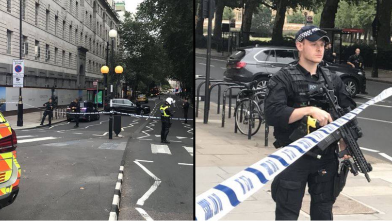 Car Collides Into Barriers Outside Houses Of Parliament Injuring Pedestrians