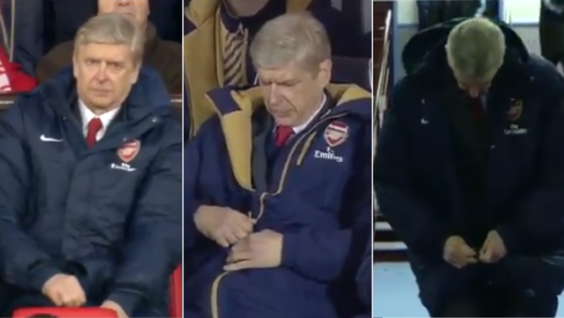 There's A Compilation Of Arsene Wenger Struggling To Zip His Coat