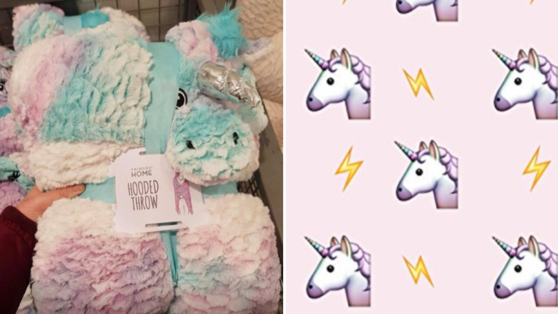 Relax In Style With This Unicorn Hooded Blanket From Primark