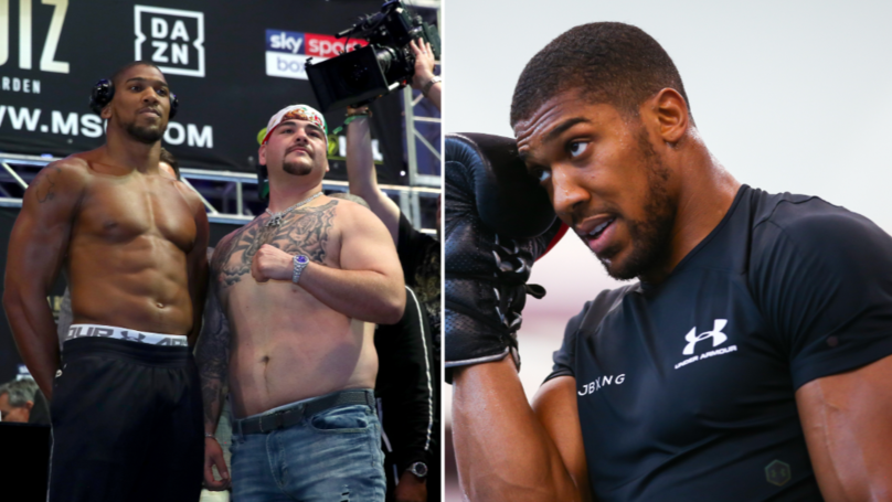 Anthony Joshua Seems To Be Dramatically Cutting Weight Ahead Of Rematch With Andy Ruiz Jr
