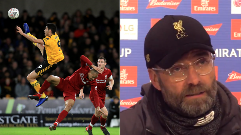 Jurgen Klopp Blames The Wind For Liverpool's FA Cup Defeat Against Wolves