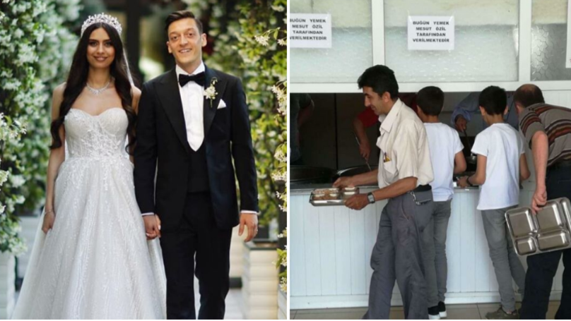Mesut Ozil And His Wife Fed 16,000 Homeless People On Their Wedding Day