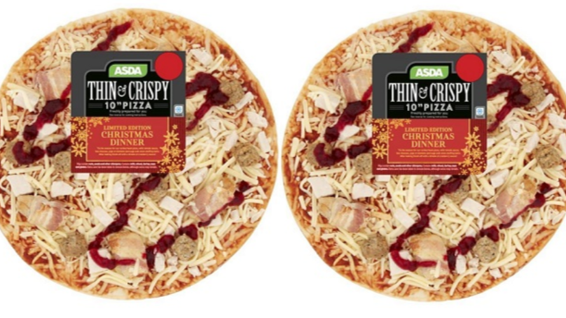ASDA Is Selling A Christmas Dinner Pizza With Pigs In Blankets