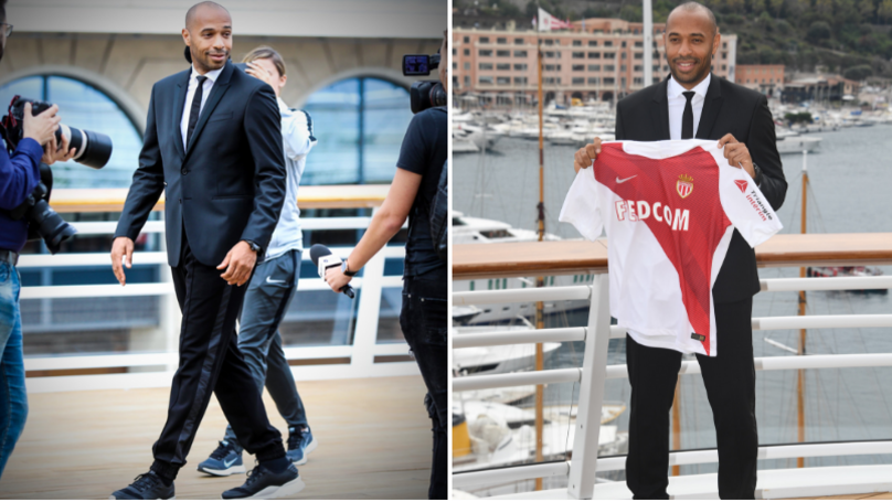 Thierry Henry Wears Tracksuit Bottoms With Suit Jacket Because He Does What He Wants