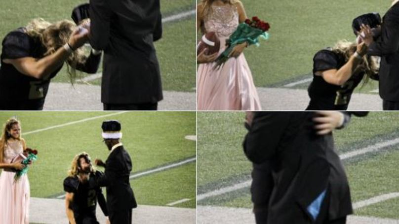 American Homecoming King Passes Crown To Football Manager With Cerebral Palsy