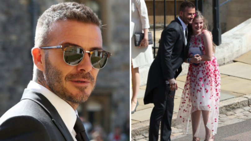 David Beckham Stopped For Photo With Manchester Terror Attack Survivor At Royal Wedding