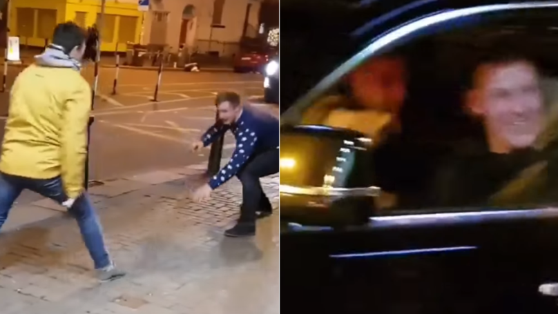 Two Irish Lads Imitate Conor McGregor, He Rolls Up Besides Them In His Car
