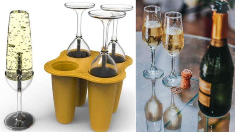 These Champagne Flute Ice Lolly Moulds Are Perfect For Summer Fizz