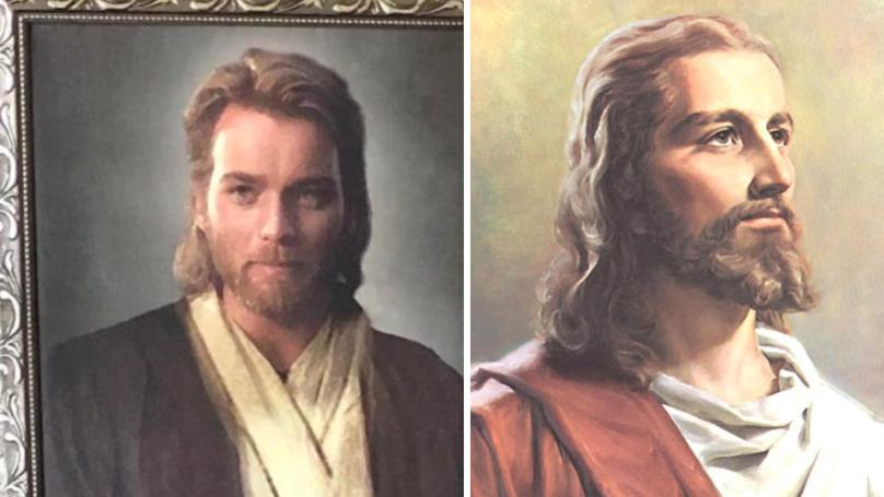 Son Pranks Religious Mum With Ewan McGregor 'Jesus Picture'