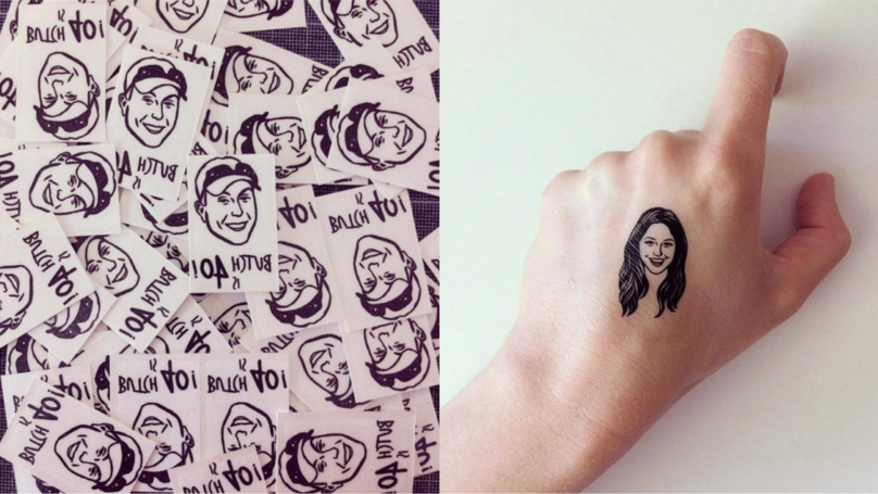 You Can Now Get Temporary Tattoos Of Your Best Mate's Face