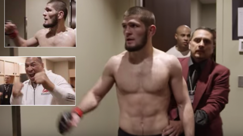New Footage Reveals Crazy Scenes Inside Khabib Nurmagomedov's Dressing Room After McGregor Fight