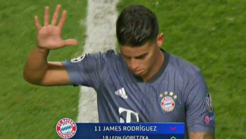 James Rodriguez Expertly Trolled Benfica Fans With 'Five' Gesture