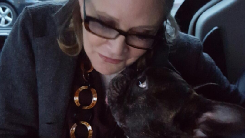 Carrie Fisher's Dog Pictured Watching Her During Newest 'Star Wars' Trailer