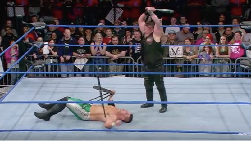 Wrestler Takes A Baseball Bat To The Face After Stunt Goes Very Wrong