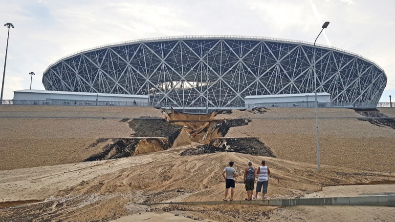Two Of The 2018 World Cup Stadiums Have Started Crumbling After Heavy Rains