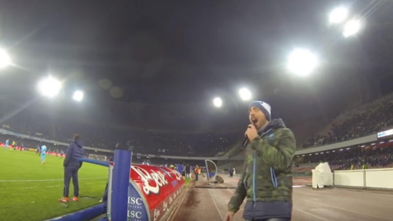 How Napoli's Stadium Announcer Hypes Up 60,000 Fans Every Home Game